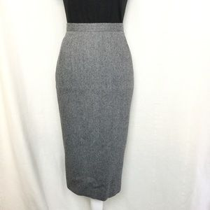 Vintage wool pencil skirt checkerboard size medium
